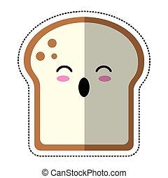 cartoon slice bread bakery vector illustration eps 10