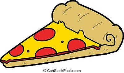 cartoon slice of pizza