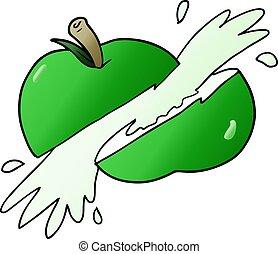 cartoon sliced apple