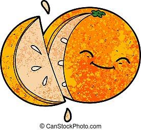 cartoon sliced orange