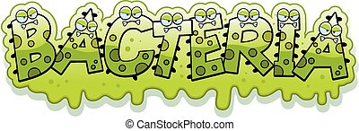 Cartoon Slimy Bacteria Text - A cartoon illustration of the...