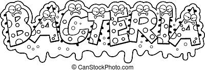 Cartoon Slimy Bacteria Text