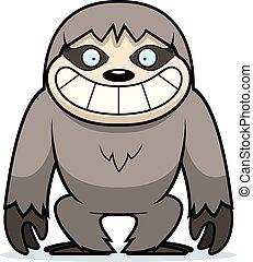Cartoon Sloth Grin