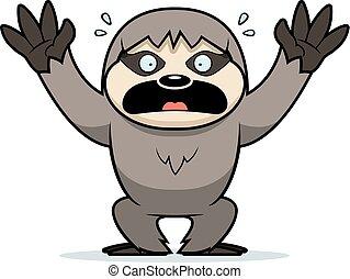 Cartoon Sloth Panicking