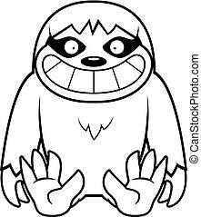 Cartoon Sloth Sitting
