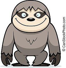 Cartoon Sloth Smiling