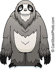 Cartoon Sloth Smiling
