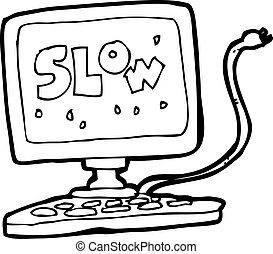 cartoon slow computer