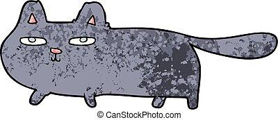 cartoon sly cat