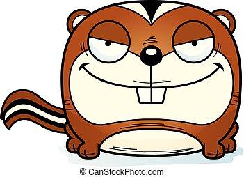 Cartoon Sly Chipmunk - A cartoon illustration of a chipmunk...