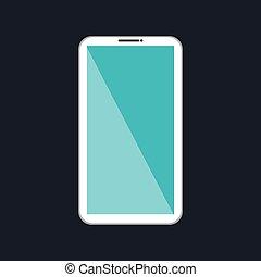 cartoon smartphone white social network