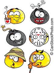 Cartoon smiles