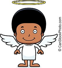 Cartoon Smiling Angel Boy