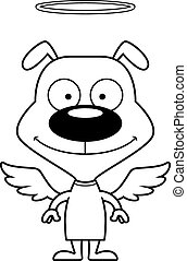 Cartoon Smiling Angel Puppy