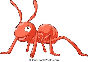Cartoon smiling Ant