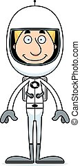 Cartoon Smiling Astronaut Man