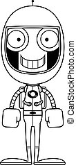 Cartoon Smiling Astronaut Robot