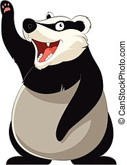 Cartoon smiling Badger