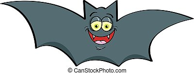 Cartoon smiling bat