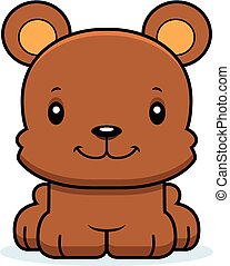 Cartoon Smiling Bear