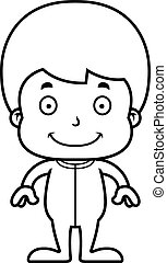 Cartoon Smiling Boy In Pajamas