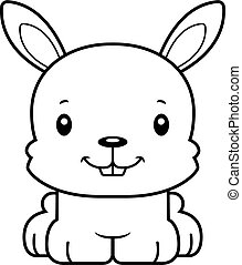 Cartoon Smiling Bunny