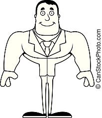 Cartoon Smiling Businessperson