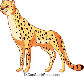Cartoon smiling Cheetah