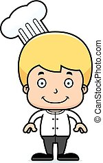 Cartoon Smiling Chef Boy