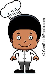 Cartoon Smiling Chef Boy