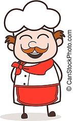 Cartoon Smiling Chef Face Vector