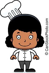 Cartoon Smiling Chef Girl