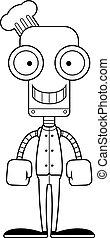 Cartoon Smiling Chef Robot