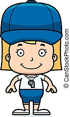 Cartoon Smiling Coach Girl