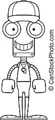 Cartoon Smiling Coach Robot