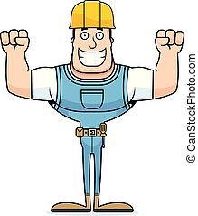 Cartoon Smiling Construction Worker