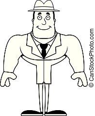 Cartoon Smiling Detective