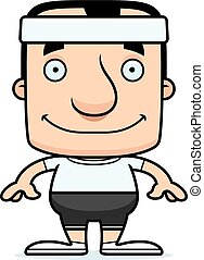 Cartoon Smiling Fitness Man