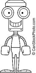 Cartoon Smiling Fitness Robot