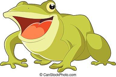 Cartoon smiling frog