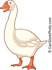 Cartoon smiling Goose
