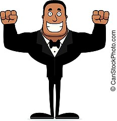 Cartoon Smiling Groom