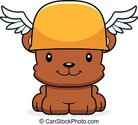 Cartoon Smiling Hermes Bear - A cartoon Hermes bear smiling.
