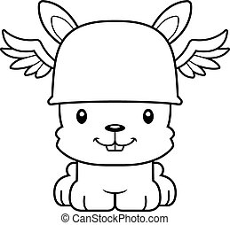 Cartoon Smiling Hermes Bunny - A cartoon Hermes bunny...