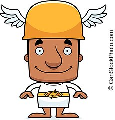 Cartoon Smiling Hermes Man - A cartoon Hermes man smiling.