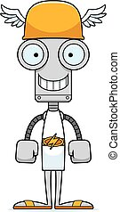 Cartoon Smiling Hermes Robot