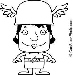 Cartoon Smiling Hermes Woman