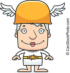 Cartoon Smiling Hermes Woman - A cartoon Hermes woman...