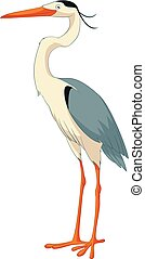 Cartoon smiling Heron - Vector image of the Cartoon smiling...