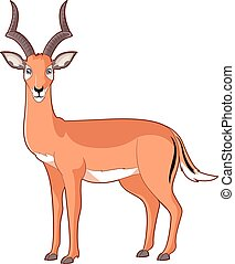 Cartoon smiling Impala - Vector image of the Cartoon smiling...